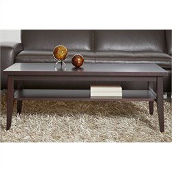 Jesper Office 2000 Entertainment Collection Coffee Table in Espresso