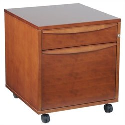 Jesper Office Sit and Stand File Cabinet in Cherry