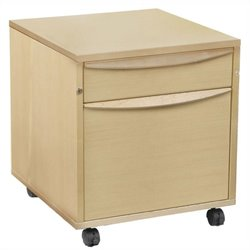 Jesper Office Sit and Stand File Cabinet in Maple