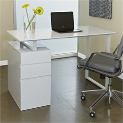 Jesper Office 200 Collection Study Desk in White
