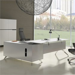 Jesper Office 400 Collection Executive Desk in White