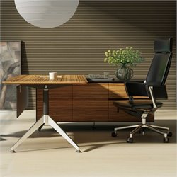 Jesper Office 400 Collection Executive Desk in Zebrano