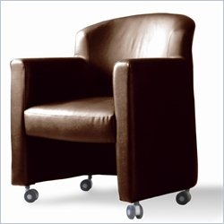 Jesper Office Ulla Conference Guest Chair in Brown w Casters