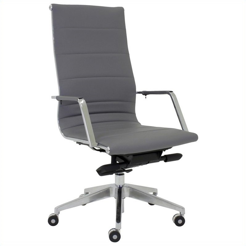 Sofia High Back Office Chair In Gray W Casters 5347
