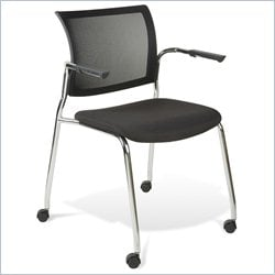 Jesper Office Jenna Guest Chair in Black w Casters