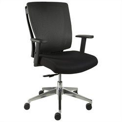 Jesper Office Leona Chair in Black w Casters