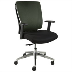 Jesper Office Leona Chair in Green w Casters