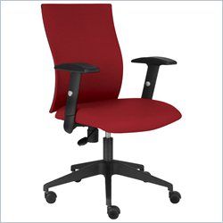 Jesper Office Kaja Arm Chair in Red w Casters