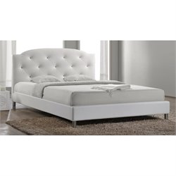 Baxton Studio Canterbury Upholstered  Full Platform Bed in White