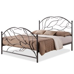 Baxton Studio Zinnia Metal  Full Platform Bed in Antique Bronze