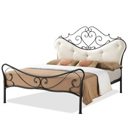 Baxton Studio Alanna Metal  Full Platform Bed in Antique Bronze