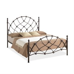Monique Metal Full Platform Bed in Bronze