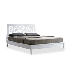 Baxton Studio Jennifer Wood Queen Platform Bed in White