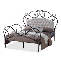 Ariana Metal Queen Platform Bed in Bronze