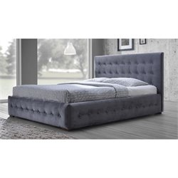 Margaret Upholstered King Platform Bed in Gray