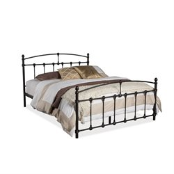 Alissa Metal Queen Spindle Bed in Dark Bronze