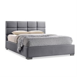 Sophie Upholstered King Platform Bed in Gray