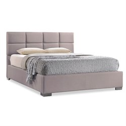 Baxton Studio Sophie Upholstered Queen Platform Bed in Beige
