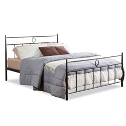 Baxton Studio Ester Metal Queen Spindle Bed in Dark Bronze