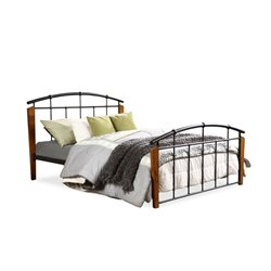 Baxton Studio Optimus Metal Queen Spindle Bed in Dark Bronze