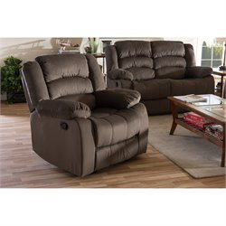 Hollace Microsuede Recliner in Taupe