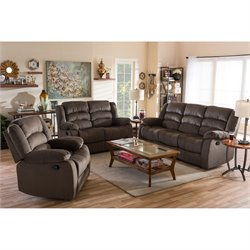Hollace Microsuede 3 Piece Sofa Set in Taupe