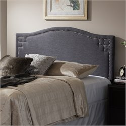 Aubrey Upholstered Full Headboard in Dark Gray