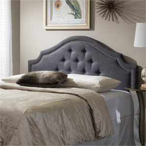 Cora Upholstered King Headboard in Dark Gray