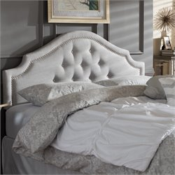 Cora Upholstered Full Headboard in Grayish Beige