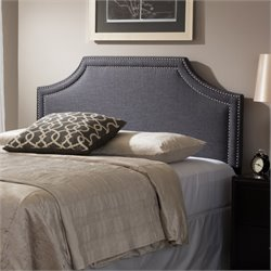 Avignon Upholstered Full Headboard in Dark Gray