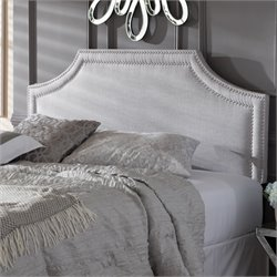 Avignon Upholstered Full Headboard in Grayish Beige