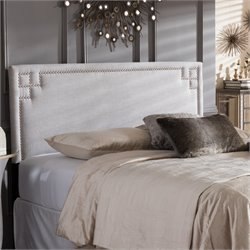 Geneva Upholstered King Headboard in Grayish Beige