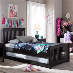 Hevea Twin Platform Bed in Dark Brown