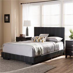 Atlas Full Platform Bed in Black