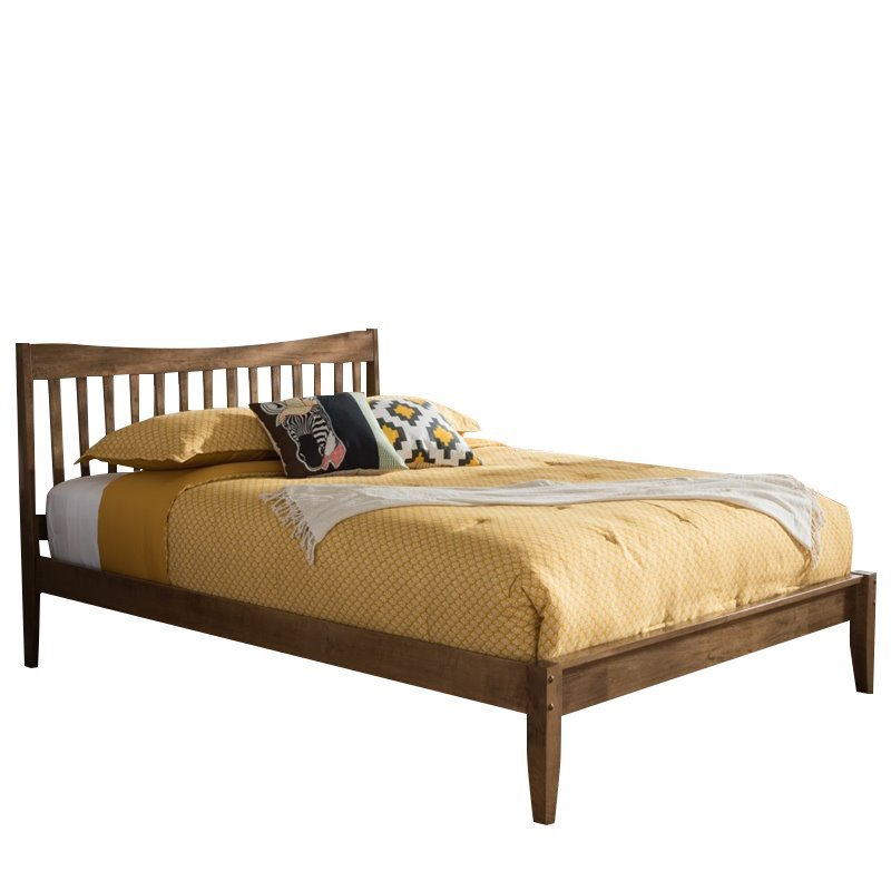 Edeline Full Platform Bed In Walnut Sw8015 Walnut M17 Full