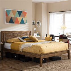 Loafey Full Platform Bed in Walnut
