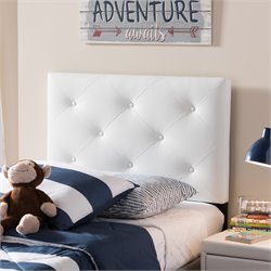 Baltimore Faux Leather Upholstered Twin Headboard