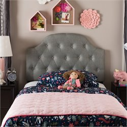Morris Faux Leather Upholstered Twin Headboard in Gray