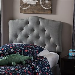 Rita Faux Leather Upholstered Twin Headboard in Gray