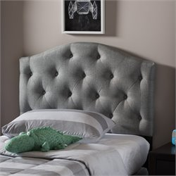 Myra Faux Leather Upholstered Twin Headboard in Gray