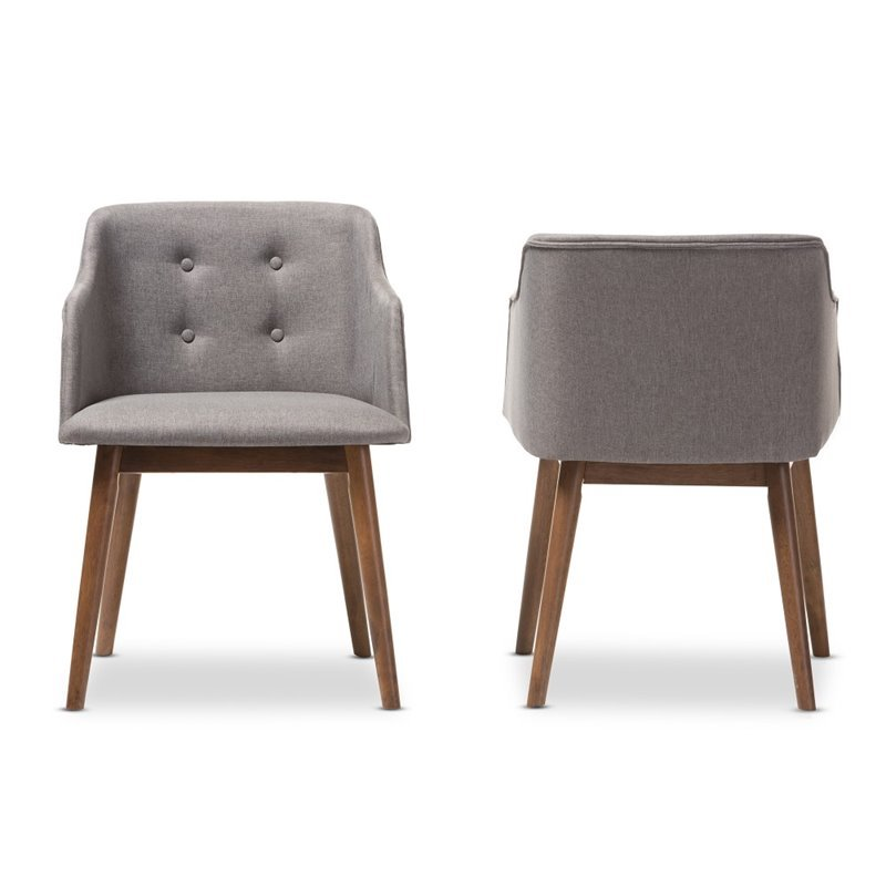 Harrison Accent Chair in Gray (Set of 2)