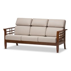 Larissa Upholstery Sofa in Taupe
