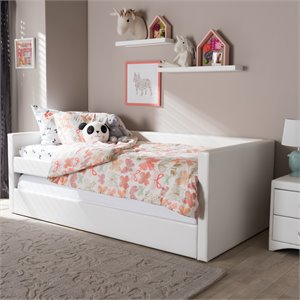 Risom Twin Daybed in White