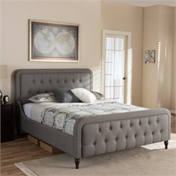 Celine Queen Platform Bed in Gray
