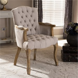 Clemence Upholstered Armchair in Beige