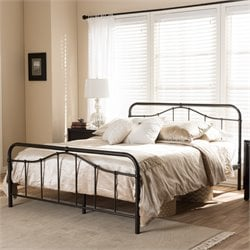 Upton Full Metal Platform Bed in Antique Bronze