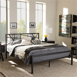 Barkley Full Metal Platform Bed in Antique Bronze