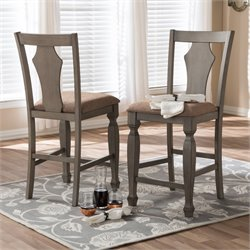 Arianna Counter Stool in Light Brown (Set of 2)