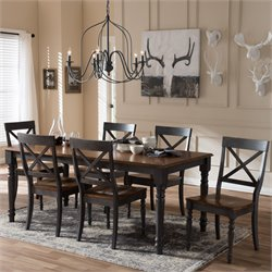 Rosalind 7 Piece Dining Set in Dove Gray