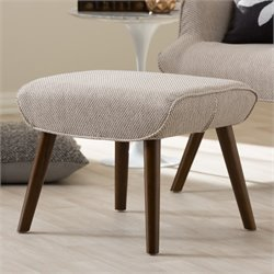 Nola Upholstered Ottoman in Beige